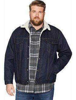 Men's Big And Tall Big & Tall Sherpa Trucker Jacket, Juniper Rinse, 4xl