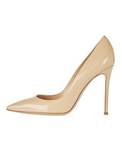 Sammitop Women's Pointed Toe Pumps 10cm Classic Stiletto Heel Suede Shoes