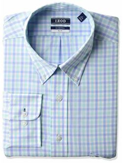 """Men's Fit Dress Shirt Stretch Check (big And Tall), Pool, 18.5"""" Neck 35""""-36"""" Sleeve (xx-large)"""