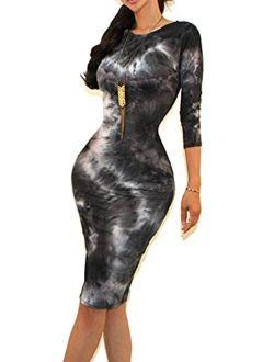 Vivicastle Women's USA Classic Slim Fit Bodycon Pencil Midi Dress