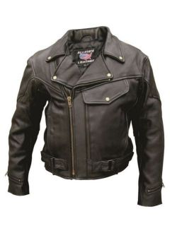 Men's Vented jacket with braid trim, pockets & full sleeve zipout liner. Antique Brass Hardware (Buffalo Leather)