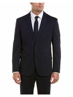 Men's Knit Slim Fit Suit With Hemmed Pant