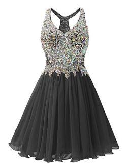 Fanciest Women's Beaded 2020 Prom Dresses Short Bridesmaid Homecoming Dress
