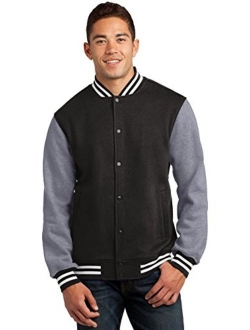 Sport Tek Fleece Letterman Jacket. ST270