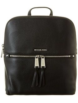 Ael Kors Rhea Zip Medium Slim Backpack Black One Size