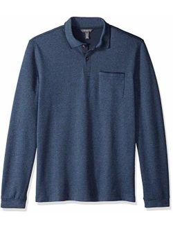 Men's Flex Long Sleeve Jaspe Solid Polo Shirt