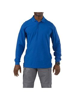 5.11 Tactical Men's Utility Long Sleeve Polo, Polyester-Cotton, Integrated Side Vents, Style 72057