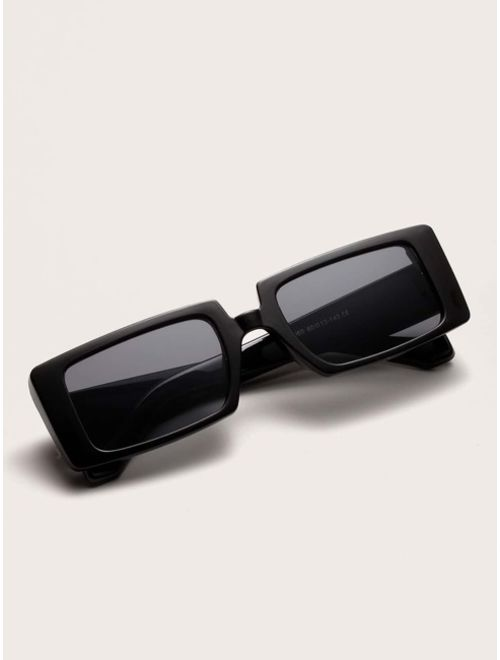 Shein Acrylic Frame Rectangle Sunglasses
