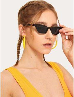 Plain Frame Tinted Lens Sunglasses
