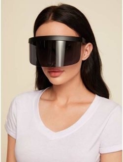 Flat Top Shield Visor Sunglasses