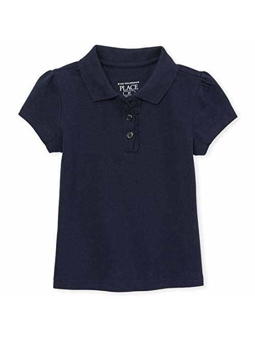 The Children's Place Girls' Toddler Short Sleeve Uniform Polo