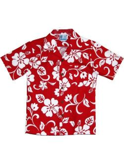 RJC Boys Classic Hibiscus Shirt in Red - 10