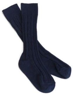 Jefferies Socks Big Girls' Classic Cable Knee Sock (Pack of 3)