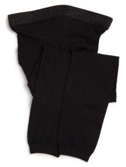 Girls' Hold & Stretch Footless Tight Socks