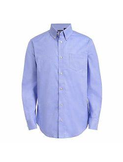 Chaps Boys' Big Long Sleeve Oxford Button-Down Dress Shirt