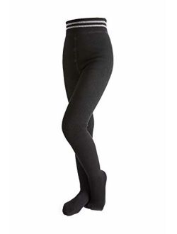 HowJoJo Girls Winter Fleece Lined Leggings Thermal Warm Footed Tights High Waist Leggings Pants