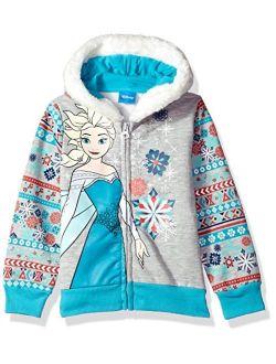 Girls' Elsa Frozen Zip Up Hoodie