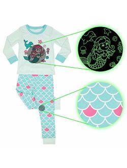 Little Jupiter - Glow in The Dark Girl Pajamas - Unicorn - Cat - Pjs for Girls - Kids Pajamas