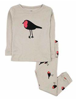Kids & Toddler Horse Bird Girls Pajamas 2 Piece Pjs Set 100% Cotton Sleepwear (12 Months-14 Years)