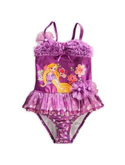 Store Princess Tangled Rapunzel Girl Two-piece Deluxe Swimsuit Size 7/8