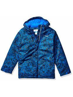 Boys' Big Lightning Lift Jacket, Super Blue Crackle Splatter, Medium