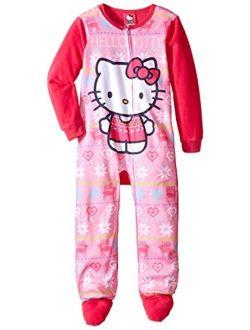 Komar Kids Girls' Hello Kitty Fleece Blanket Sleeper