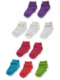 Girls' Toddler Ankle Socks 10-pack