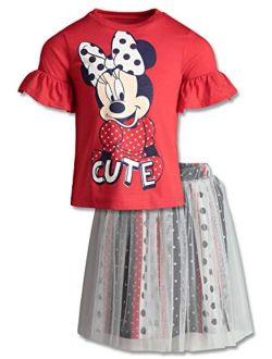 Minnie Mouse Little Girls' Fashion T-shirt & Tulle Skirt Set