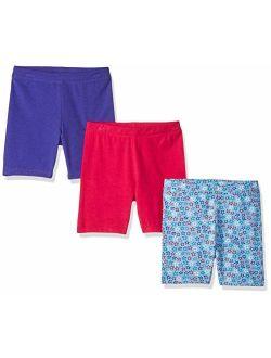- Spotted Zebra Girl's Toddler & Kid's 3-pack Bike Shorts