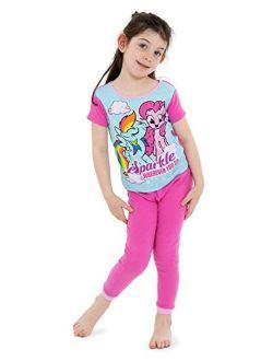 Girls' 4-piece Cotton Pajama Set
