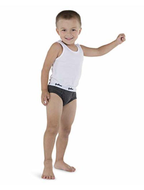Feathers Boys White Tank 100% Cotton Super Soft Tagless Undershirts 3-Pack