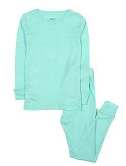 Kids Pajamas Boys & Girls Solid Colors 2 Piece Pajama Set 100% Cotton (size 2-14 Years)