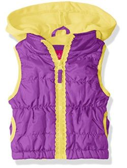 Pink Platinum Girls' Lace Zipper Tape Vest
