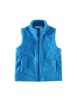 Mud Kingdom Boys Vest Fleece Solid Color