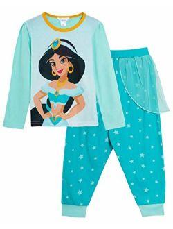 Princess Jasmine Dress Up Pyjamas Girls Full Length Novelty Pjs
