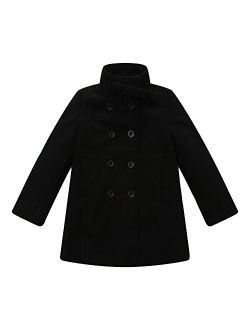 Richie House Girls' Double-Breasted Jacket with Little Stand Collar Size 2-12 Rh0644