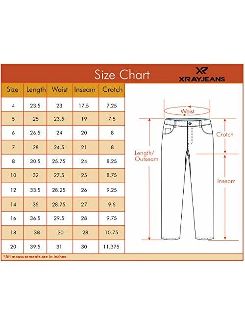 X RAY Boys Skinny Ripped Jeans with Holes Distressed Washed Stretch Denim Casual Kids Slim Jean Pants
