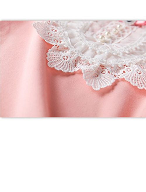 VYU Toddler Little Girls Long Sleeve Blouse 2-8 Years Kids Cotton Warm Shirts