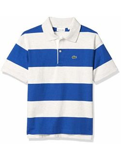 Boys' Striped Jersey Cotton Polo Shirt