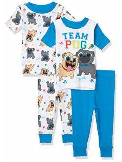 Boys' Puppy Dog Pals 4-piece Cotton Pajama Set