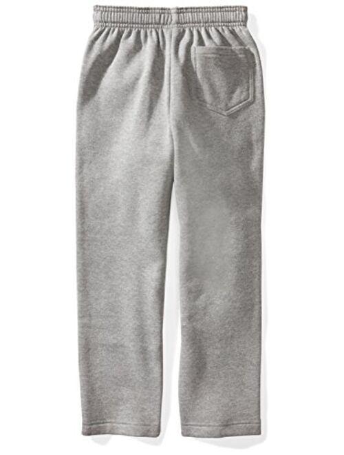 Starter Boys' Open-Bottom Logo Sweatpants with Pockets, Amazon Exclusive