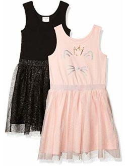 - Spotted Zebra Girls Knit Sleeveless Tutu Dresses