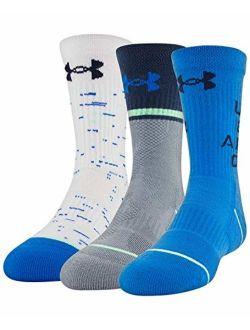 Under Armour Phenom Crew Socks, 3 Pairs Socks