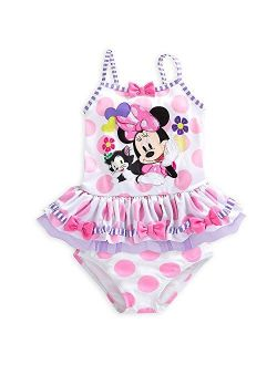 Minnie Mouse Clubhouse Deluxe Swimsuit For Girls - 2-piece White