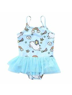 Vovotrade Cute Girls One-Piece Swimsuit Cartoon Pig Print Summer Beach Bathing Suit