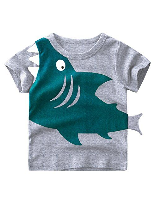 EULLA Little Boys T Shirts Toddler Boy Clothes Elephant Long Short Sleeve Pullover Sweatshirts Cartoon Tee for Kids
