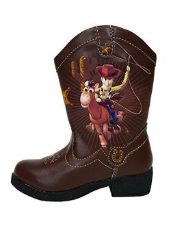 Pixar Toy Story Ii Woody Light Up Toddler Boys Cowboy Boots