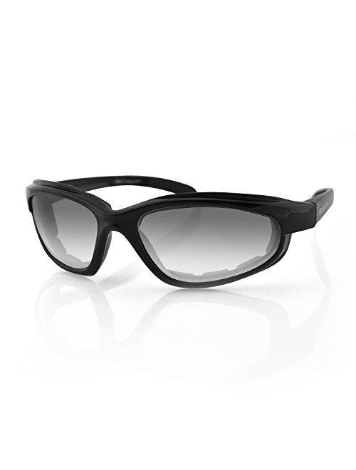 Bobster EFB001 Fat Boy Sunglasses with Black Frame and Anti-Fog Photochromic Lens (Gloss Black)
