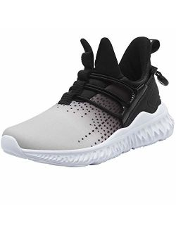 Spesoul Kids Fashion Sneakers Outdoor Lightweight Breathable Athletic Running Walking Shoes for Girls Boys 5 M US Big Kid