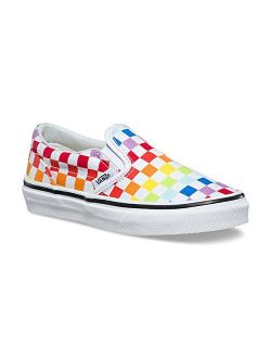 Kids K Clasic Slip On Checkerboard Rainbow White Size 4